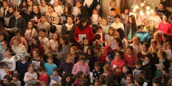 Srečanje otroških pevskih zborov na Rakovniku